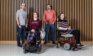 From left: disability diarists Craig Gilding, Nina Grant, Pete Langman and Shona Cobb.