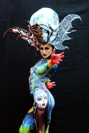 A design by Italian artist Daniele Piovano at the 2016 World Bodypainting festival in Pörtschach am Wörthersee, Austria