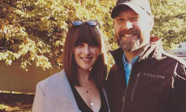Rachel Peterson with her husband Robby