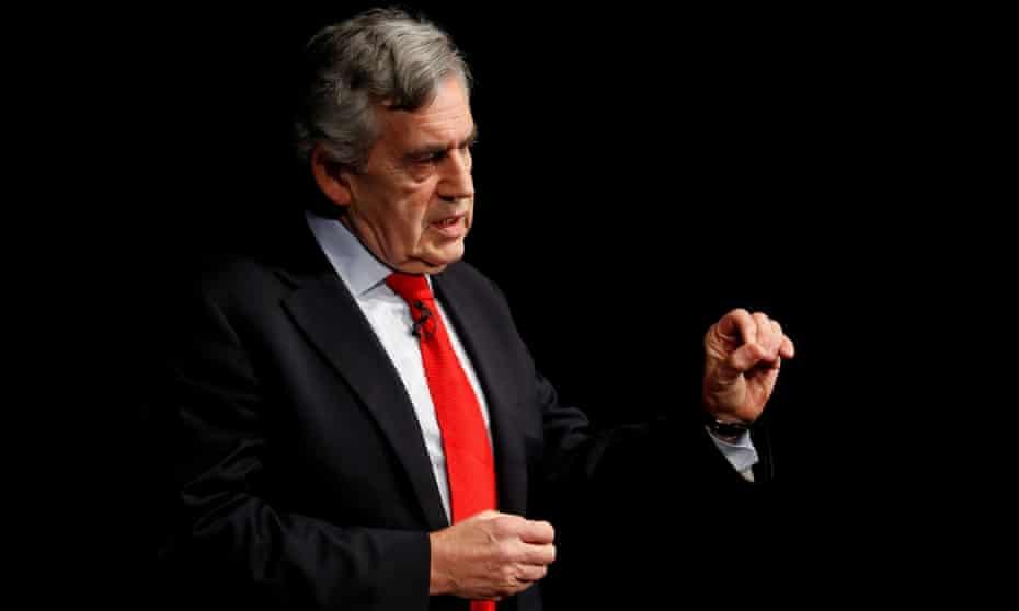 The former prime minister Gordon Brown