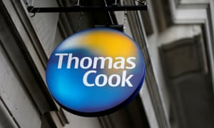 A Thomas Cook sign outside one of its London stores