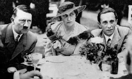 'They were both very nice to me' ... Goebbels and his wife Magda with Hitler