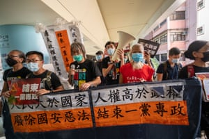 Protesters demand an end to one-party rule in China