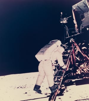 Neil Armstrong photographs Edwin Aldrin, the second man to step on the moon