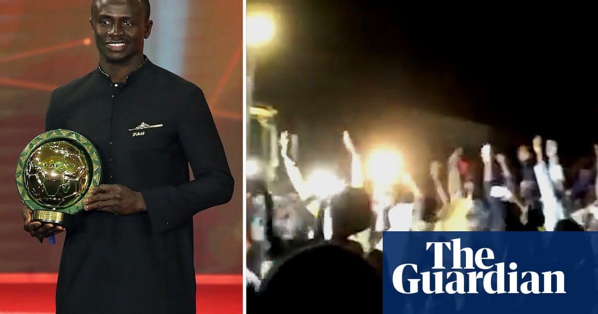 Sadio Manés home village celebrates wildly as star named African Footballer of the Year – video