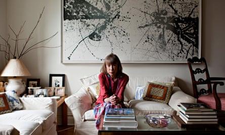 Joan Didion at home