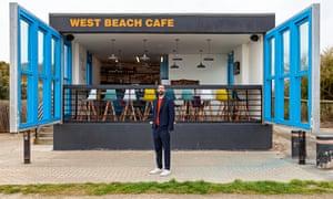 Architect Asif Khan at West Beach Cafe in Littlehampton