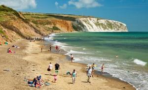 Yaverland beach, Culver down, Isle of Wight.