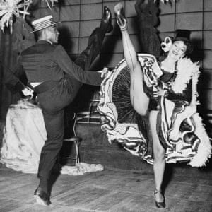 Vanoye Aikens and Katherine Dunham in The Caribbean Dances Show at the Cambridge theatre, London, in 1952.