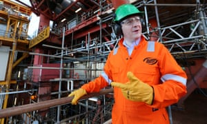 George Osborne visits Scottish oil rig