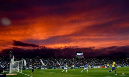 Leganes v Las Palmas at the Butarque stadium near Madrid.