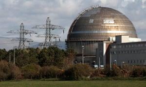 The Sellafield nuclear reprocessing site, near Seascale in Cumbria.