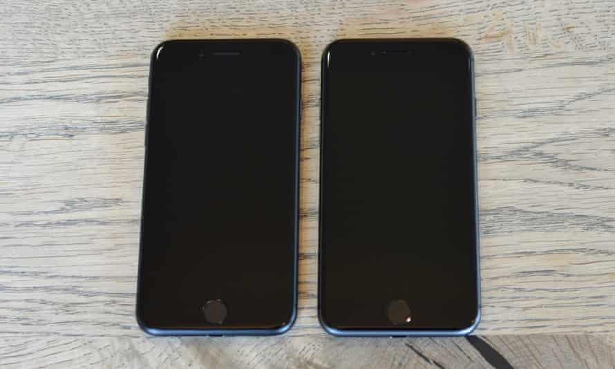 iPhone 8 review next to the iPhone 7