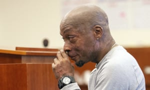 Dewayne 'Lee' Johnson reacts after hearing the verdict in his case against Monsanto.
