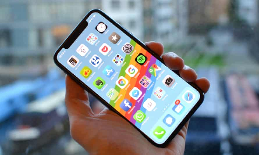The iPhone X, which costs £999.