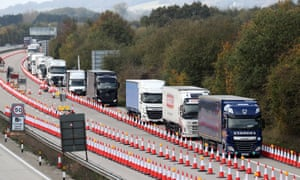 Traffic passing through Operation Brock on the M20 in October last year.