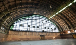 The interior of Bedford-Union Armory in the Crown Heights