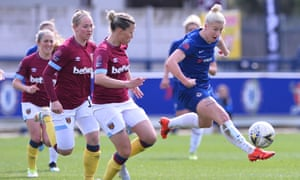 Beth England, right, in action here for Chelsea against West Ham, has been called up.