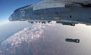 Russian bomber during a combat flight over Latakia last week.