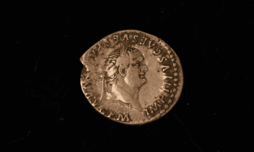 A coin found at the excavation site in Yorkshire