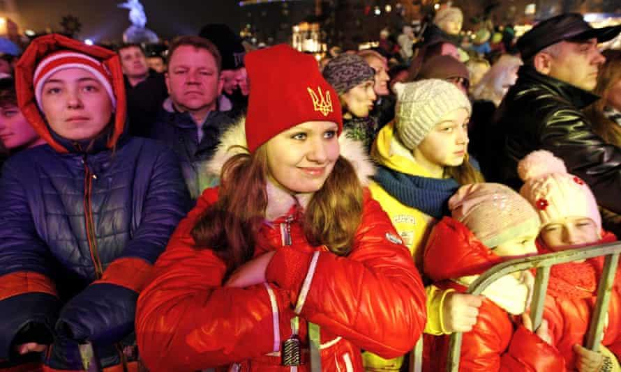 Christmas celebrations in Kiev, Ukraine