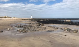 A view of Barns Ness from a nearby beach.