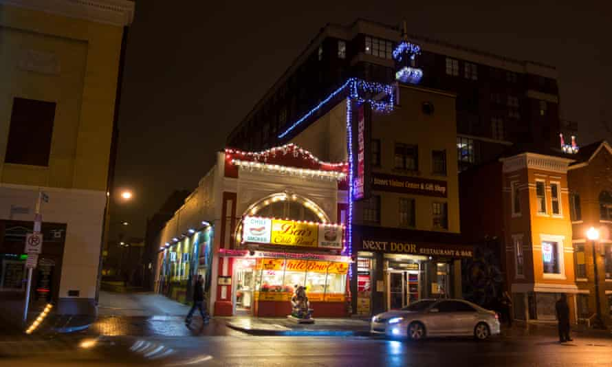 Ben's Chili Bowl seen from U Street in December, with the old mural in place.