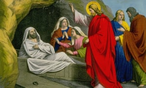 Jesus Christ raising Lazarus (John 11: 1-44), from Cottage Pictures from the New Testament, 1856.