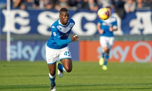 Mario Balotelli in action for Brescia against Torino this month. The striker was dropped for the weekend defeat to Roma.