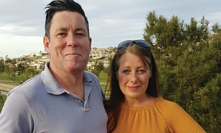 Terence Sheehan and his partner, Emma Holmes