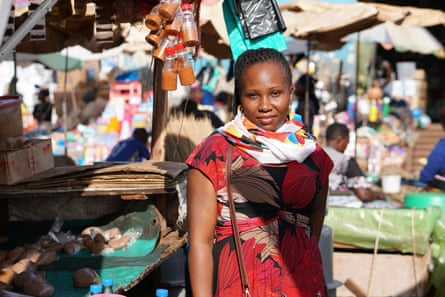 Tafumba Susan, market vendor and secretary of ground nuts department