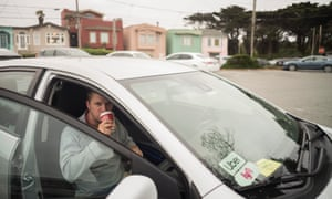 Max, a driver for Uber and Lyft, commutes from Sacramento to work long hours driving in San Francisco.