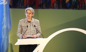 Irina Bokova at a conference to celebrate the 70th anniversary of Unesco in November 2015.