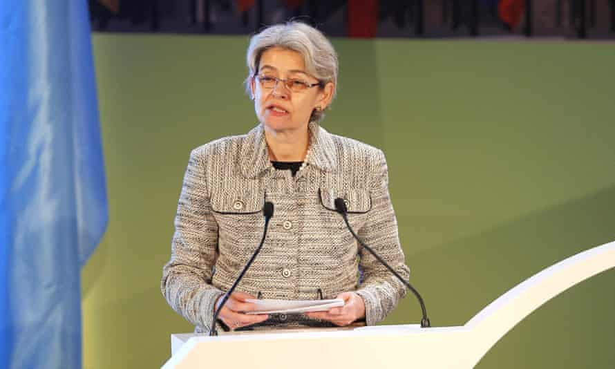 Irina Bokova, director general of Unesco.