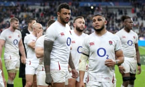 England's Courtney Lawes (centre) and Lewis Ludlam (right)