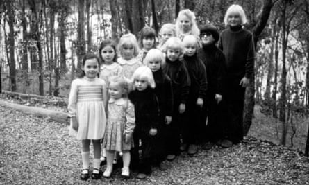 Blond faith: children from The Family ready to be baptised in 1978. Anne Hamilton-Byrne bleached their hair to make them look alike.