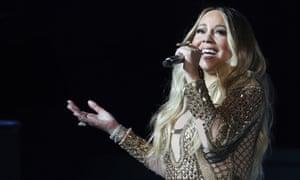 Mariah Carey performing in Dubai.