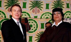 Tony Blair and Colonel Muammar Gaddafi