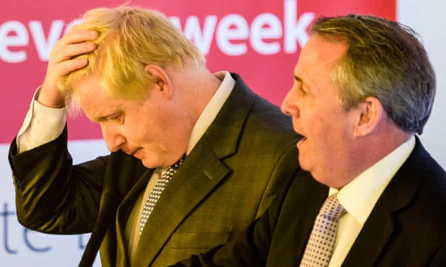 Boris Johnson with Liam Fox