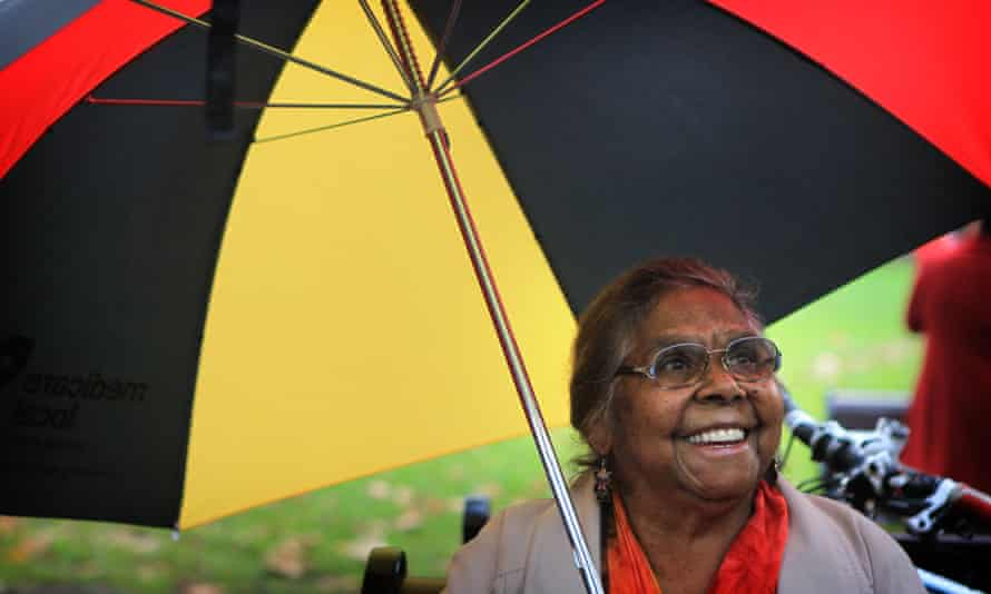 Ali Golding attends a Sydney protest on 1 May.