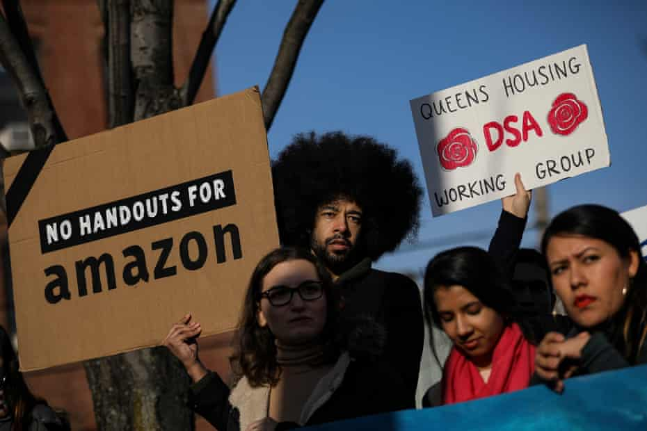 Activists and community members joined to fight Amazon's plan to move into Queens.