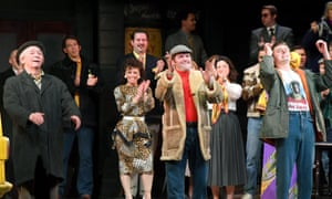 Paul Whitehouse as Grandad, Tom Bennett as Del Boy and Ryan Hutton as Rodney at the opening night of Only Fools and Horses The Musical.
