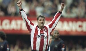Matt Le Tissier celebrates during a 2-1 win over Newcastle United at the Dell in 1998.