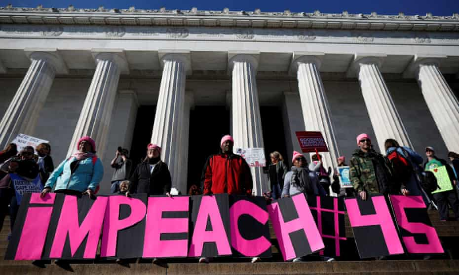 People participate in the second annual Women's March in Washington.