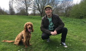 Mark Newnham and his cocker spaniel, Lenny. Sent by him for Robin McKie's  Huntington's disease story.