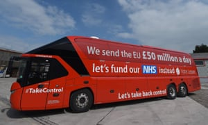 The Vote Leave battle-bus advertising a £350m a week 'dividend'