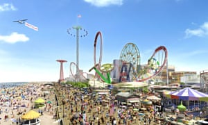 Artist impression of development plans for the Coney Island Boardwalk.