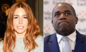 Stacey Dooley and David Lammy MP
