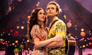 Alison Luff and Paul Alexander Nolan in Escape to Margaritaville.