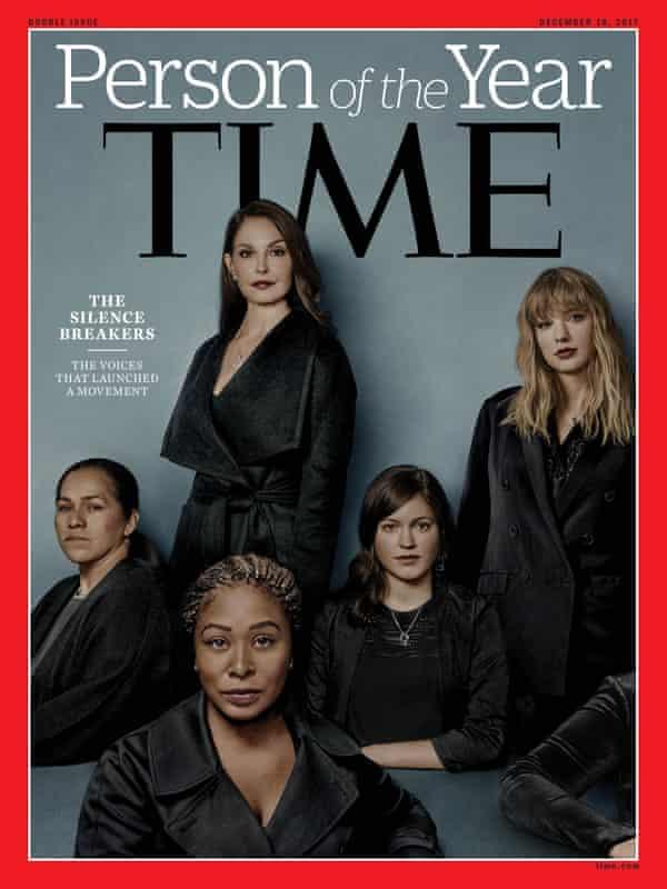 Ashley Judd, Susan Fowler, Adama Iwu, Taylor Swift, and Isabel Pascual.